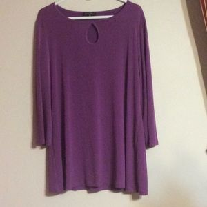 "💜 Slinky Brand Tunic in Purple ""Passion"""